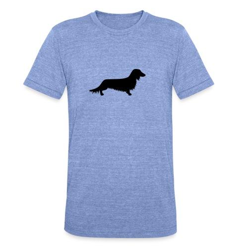 Langhaardackel - Unisex Tri-Blend T-Shirt von Bella + Canvas