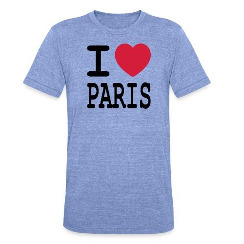 I love Paris - Unisex tri-blend T-shirt van Bella + Canvas