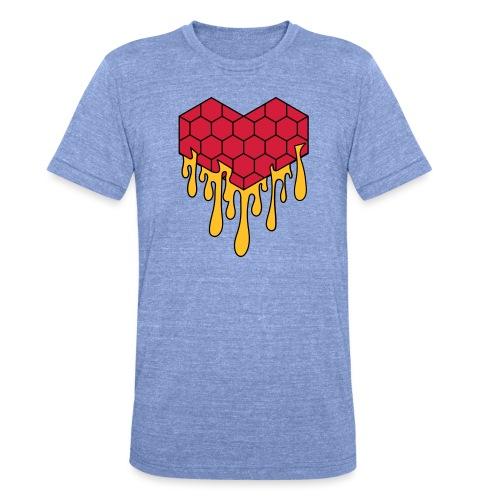 Honey heart cuore miele radeo - Maglietta unisex tri-blend di Bella + Canvas