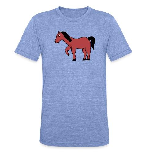 pferd Pony Reiten - Unisex Tri-Blend T-Shirt von Bella + Canvas