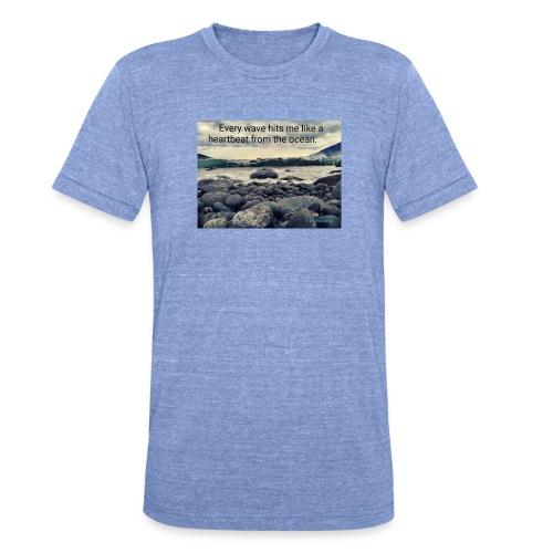 Oceanheart - Unisex tri-blend T-skjorte fra Bella + Canvas