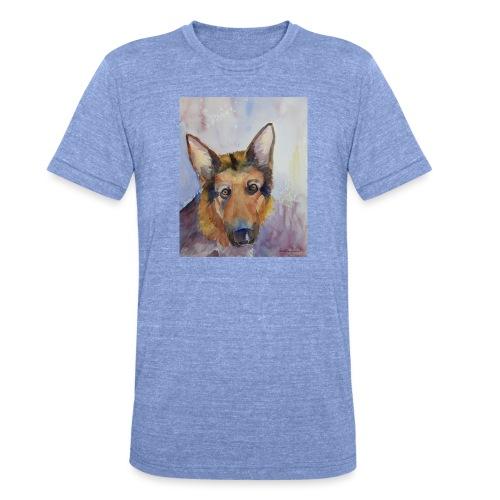 german shepherd wc - Unisex tri-blend T-shirt fra Bella + Canvas
