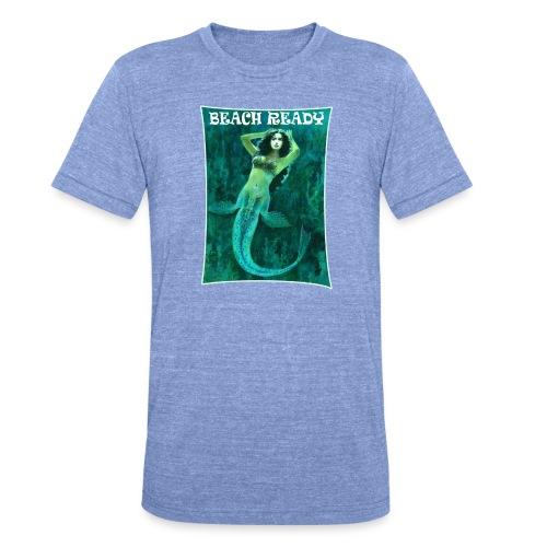 Vintage Pin-up Beach Ready Mermaid - Unisex Tri-Blend T-Shirt by Bella & Canvas