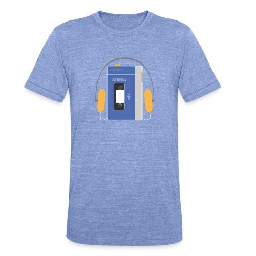 Stereo walkman in blue - Unisex Tri-Blend T-Shirt by Bella & Canvas