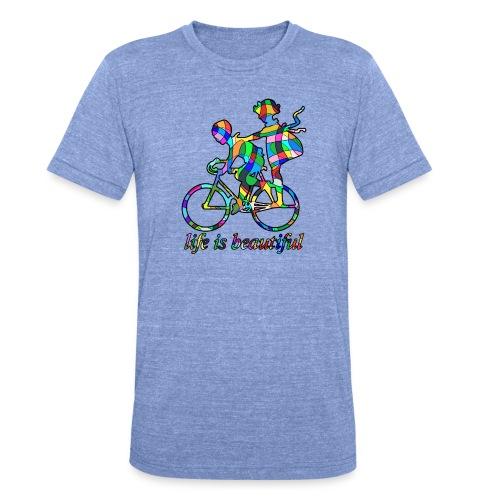 Life is beautiful - Unisex Tri-Blend T-Shirt von Bella + Canvas