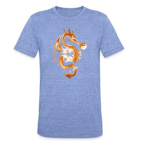 Der Drache spielt mit der Energie des Lebens. - Unisex Tri-Blend T-Shirt von Bella + Canvas