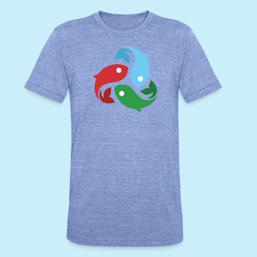 De fiskede fisk - Unisex tri-blend T-shirt fra Bella + Canvas