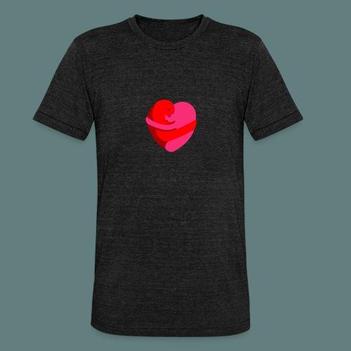 hearts hug - Maglietta unisex tri-blend di Bella + Canvas