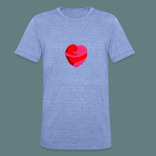 hearts hug - Maglietta unisex tri-blend di Bella + Canvas
