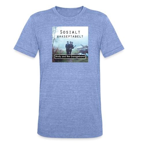 Sosialt Uakseptabelt - Unisex tri-blend T-skjorte fra Bella + Canvas