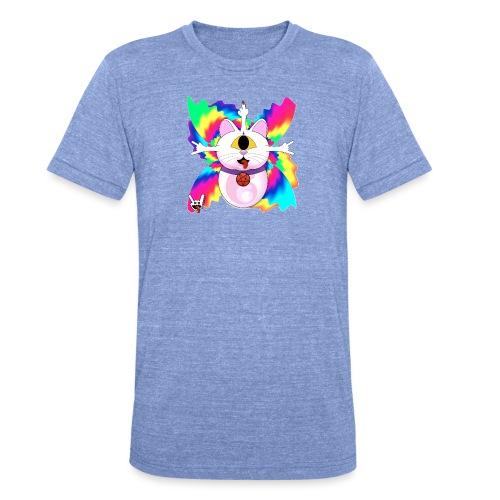 Chat diabolique - T-shirt chiné Bella + Canvas Unisexe