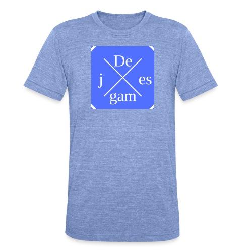 de j games kleren - Unisex tri-blend T-shirt van Bella + Canvas