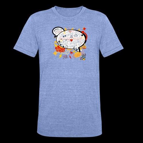 crazystreettalk - T-shirt chiné Bella + Canvas Unisexe