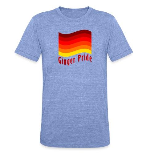 Ginger Pride flag Dark png - Unisex Tri-Blend T-Shirt by Bella & Canvas