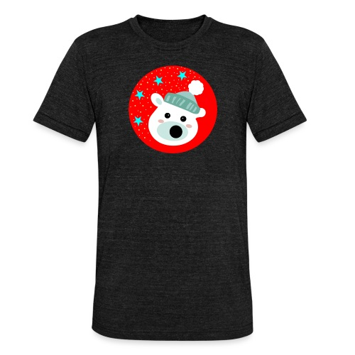 Winter bear - Unisex Tri-Blend T-Shirt by Bella & Canvas