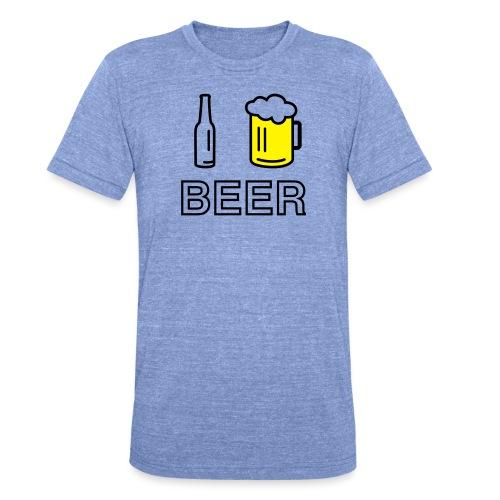 I Love Beer (2-farbig) - Unisex Tri-Blend T-Shirt von Bella + Canvas