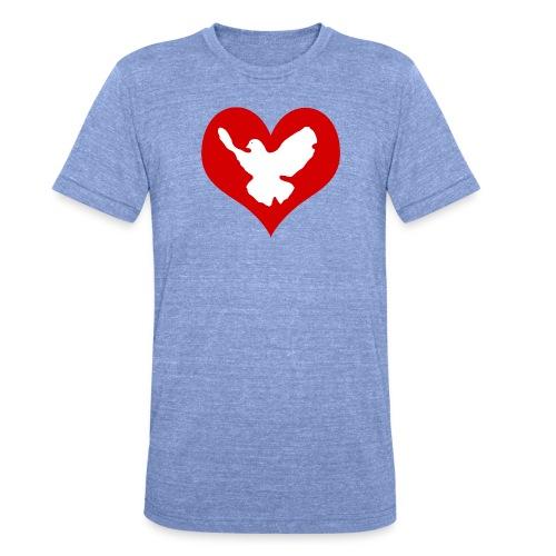 Peace & Love - Unisex Tri-Blend T-Shirt von Bella + Canvas