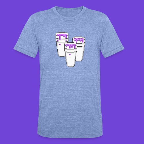 Purple - Maglietta unisex tri-blend di Bella + Canvas