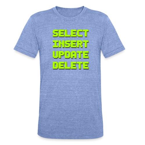 SQL pixelart black - Unisex Tri-Blend T-Shirt von Bella + Canvas