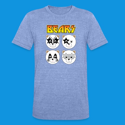 Kiss Bears square.png - Unisex Tri-Blend T-Shirt by Bella & Canvas