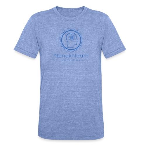 Nanak Naam Logo and Name - Blue - Unisex Tri-Blend T-Shirt by Bella & Canvas