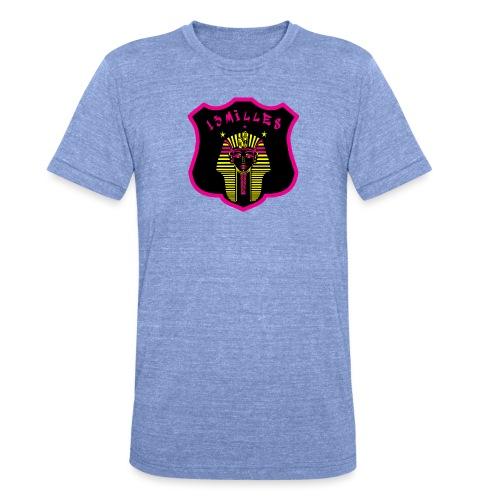 Pharaon Noir, Rose, Jaune hyper design - T-shirt chiné Bella + Canvas Unisexe