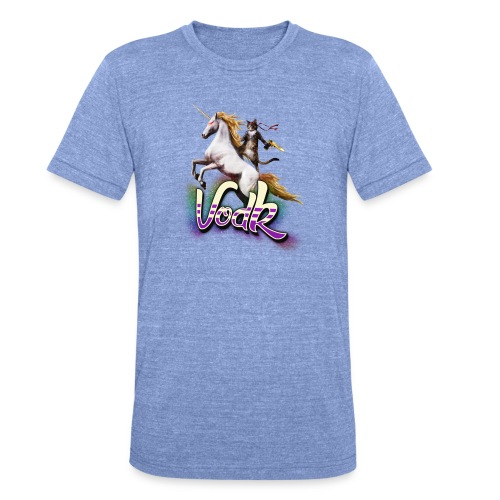 VodK licorne png - T-shirt chiné Bella + Canvas Unisexe