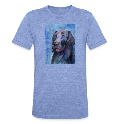 flatcoated retriever - watercolor - Unisex tri-blend T-shirt fra Bella + Canvas