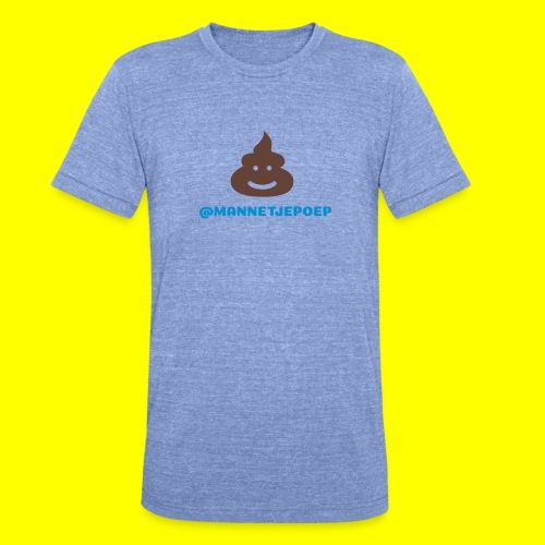 Mannetje Poep Shit - Unisex tri-blend T-shirt van Bella + Canvas