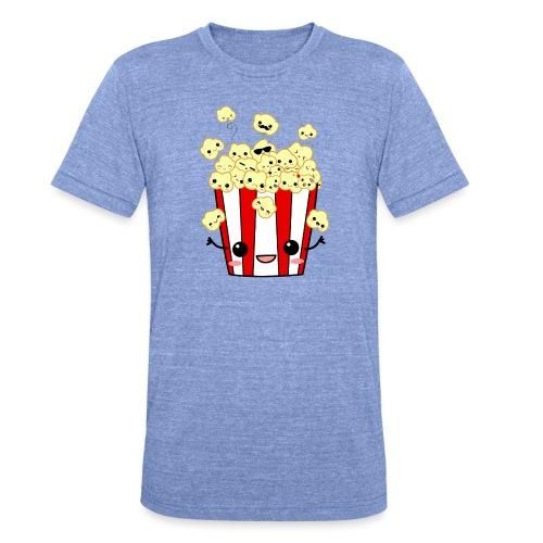 PopCorn - Camiseta Tri-Blend unisex de Bella + Canvas
