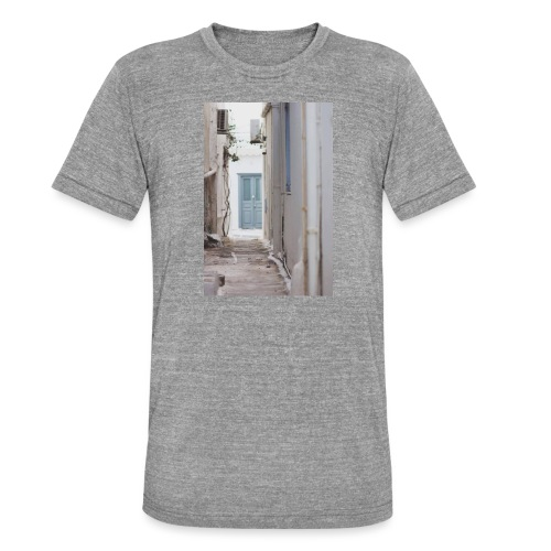 empty street in Mykonos - Koszulka Bella + Canvas triblend – typu unisex