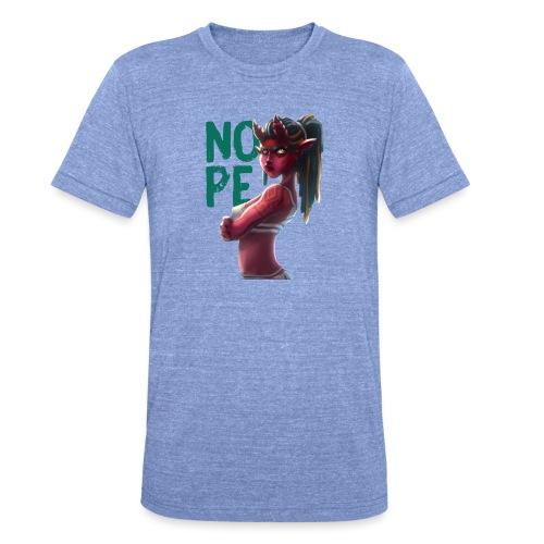 Demon of NOPE - Unisex Tri-Blend T-Shirt von Bella + Canvas