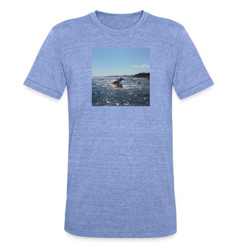 Mer avec roches - T-shirt chiné Bella + Canvas Unisexe