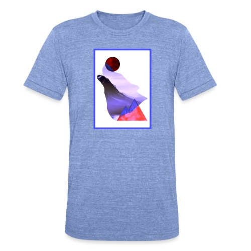 Måne Ulv - Laurids B Design - Unisex tri-blend T-shirt fra Bella + Canvas