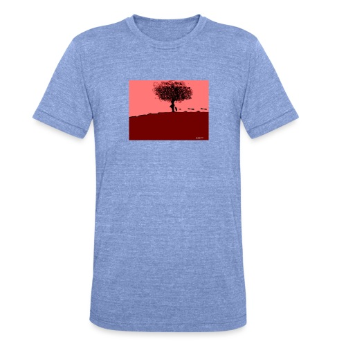 albero_0001-jpg - Maglietta unisex tri-blend di Bella + Canvas