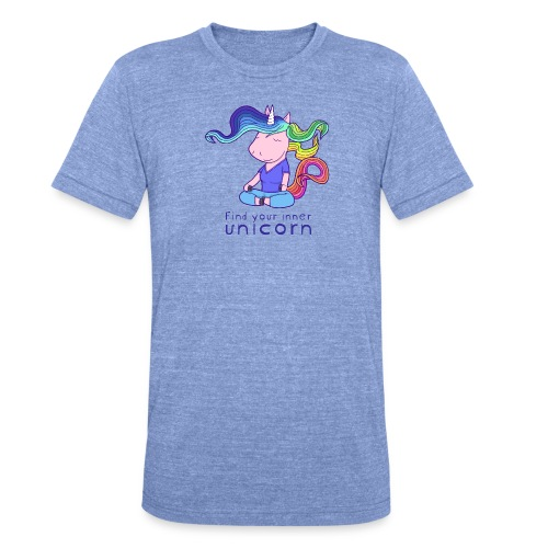 Yoga unicorn in the Lotus - Unisex Tri-Blend T-Shirt by Bella & Canvas