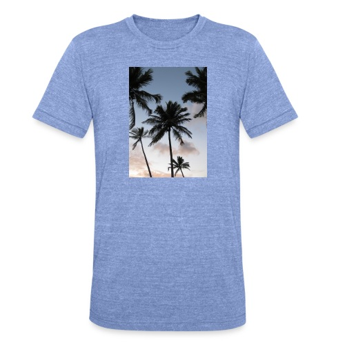 PALMTREES DOMINICAN REP. - Unisex tri-blend T-shirt van Bella + Canvas