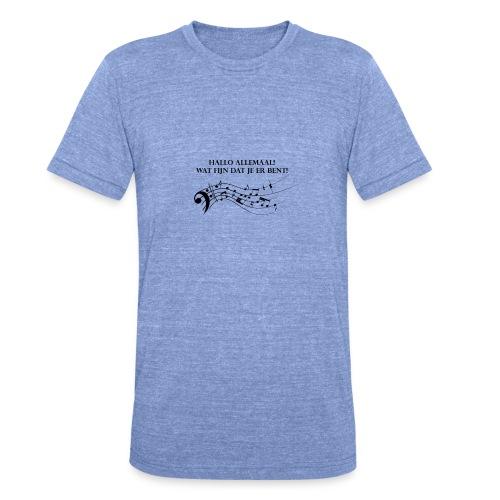 Hallo allemaal! - Unisex tri-blend T-shirt van Bella + Canvas