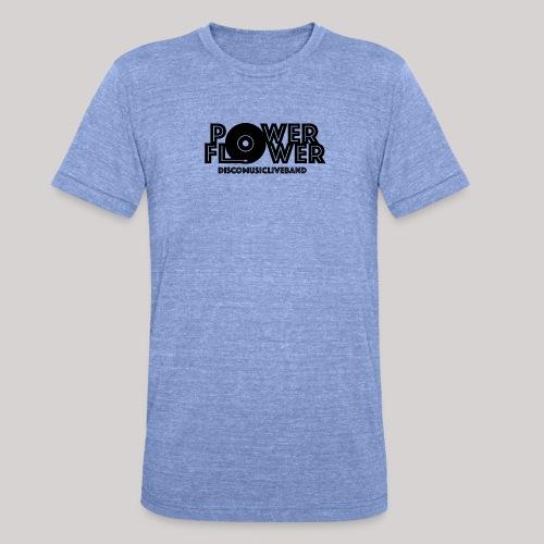Logo PowerFlower Nero - Maglietta unisex tri-blend di Bella + Canvas