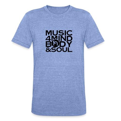 Music 4 Mind, Body & Soul Black - Unisex Tri-Blend T-Shirt by Bella & Canvas