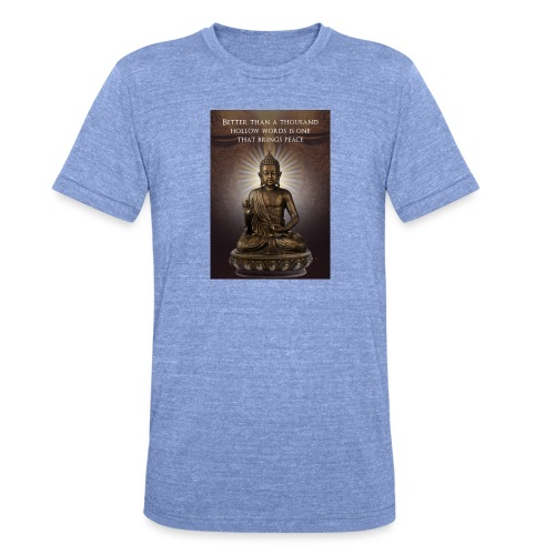 Buddha Wisdom - Unisex Tri-Blend T-Shirt by Bella & Canvas