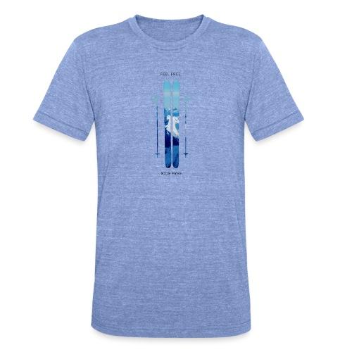 Freeski - Black - Unisex Tri-Blend T-Shirt von Bella + Canvas