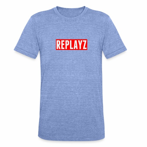 Replayz Red Box Logo - Unisex Tri-Blend T-Shirt by Bella & Canvas