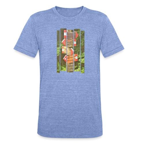 De verwarde hike - Unisex tri-blend T-shirt van Bella + Canvas