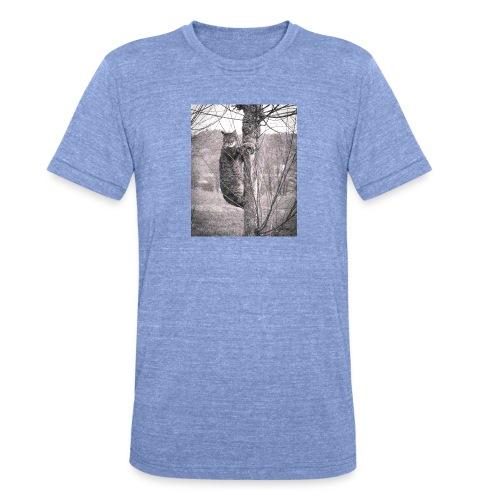 Grumpy Koala Katze im Baum - Unisex Tri-Blend T-Shirt von Bella + Canvas