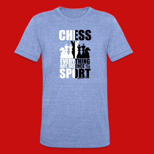 chess_for_red_OK-png - Camiseta Tri-Blend unisex de Bella + Canvas
