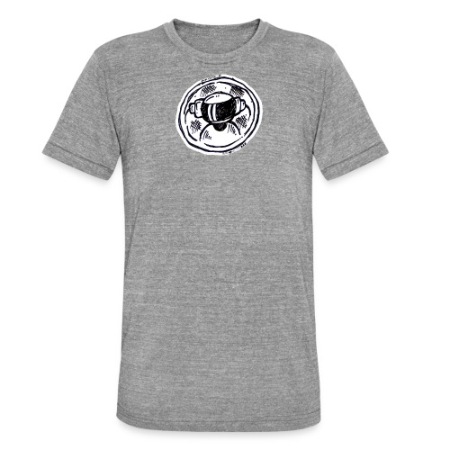 Machine Boy Ruff White - Unisex Tri-Blend T-Shirt by Bella + Canvas