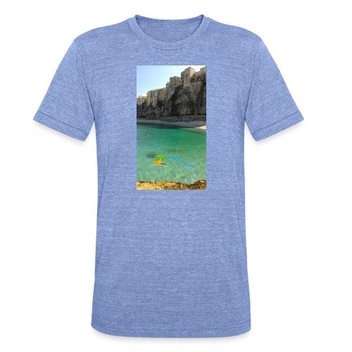 Tropea mare e centro storico - Maglietta unisex tri-blend di Bella + Canvas