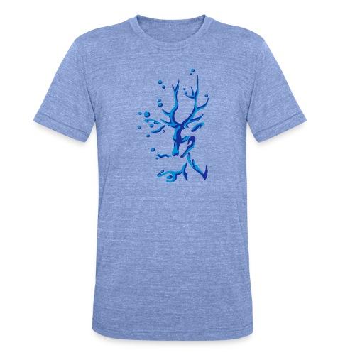 Hirsch - Unisex Tri-Blend T-Shirt von Bella + Canvas