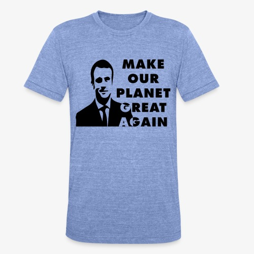 Make our planet great again - T-shirt chiné Bella + Canvas Unisexe